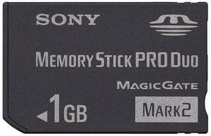 Memory Stick Sony Pro Duo 1gb High Speed Magic Gate