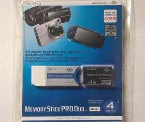 Memory Stick Sony Pro Duo 4gb Magic Gate Mark2 Más