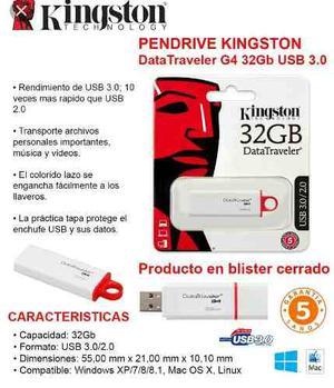 Pendrive 32gb Kingston Datatraveler G4 Usb  Nuevo