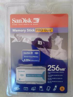 Vendo Memoria Sony Pro Duo De 256mb Con Su Adaptador