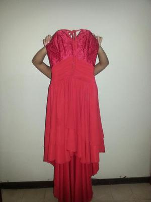 Vestido Rojo Largo de Noche