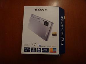 Cámara Digital Sony T77 De 10.1 Mega Pixel Plateada