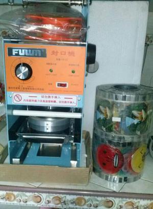 maquina selladora de vasos