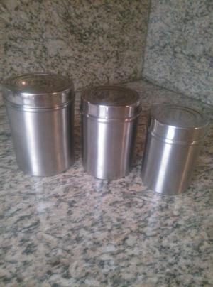 potes para condimentos en aluminio