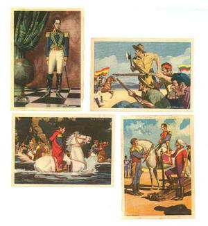 Barajitas Album Simon Bolivar  (tapa Verde)