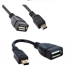 Cable Adaptador Otg Mini Usb Macho A Usb Hembra Nuevo
