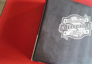 Carpeta Negra Para Tarjetas De Baseball Con 80 Hojas Usadas