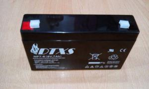 Batería Pila 6 V 7 A Lampara E Emergencia. I.v.a Incluido.