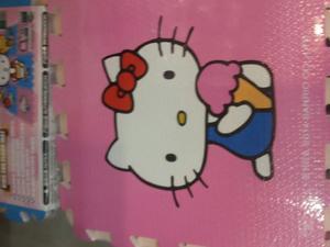 Alfombra Foamy Cars Hello Kitty 9 Laminas 30x30 Cm