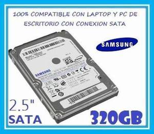 Disco Duro Para Laptop Sata 320gb Usados. Garantizados
