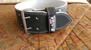Excelente Cinturon De Pesas Talla M Puro Cuero. Made In Usa.
