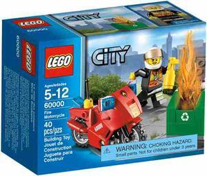 Lego City  Moto De Bomberos 40 Pzs