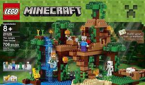 Lego Minecraft  La Casa Del Árbol En La Jungla 706 Pzs