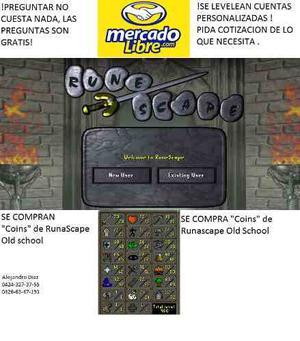 Runascape Old School Venta De Cuentas(venta Y Compra Coins