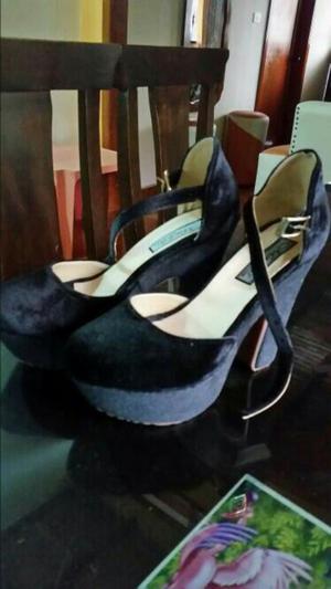 Zapatos Negros Colombianos Talla 36 Y 37