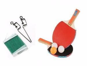 Set 2 Raqueta De Ping Pong 3 Pelotas Y 1 Malla Worldnet.star