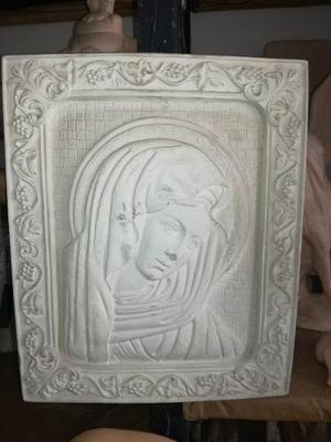 Aplicaciones O Medallones En Ceramica Y Yeso De Virgenes.!