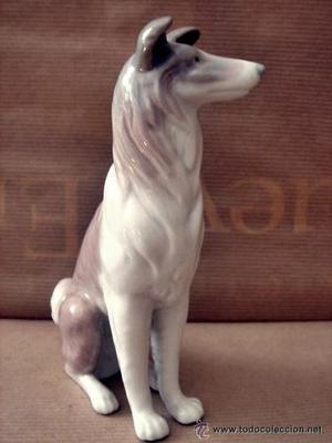 Figura Porcelana Lladro Logo  - Perro Pastor Escoce