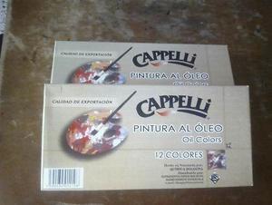 Oleo Cappelli 12 Colores 12cc