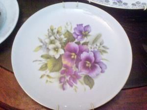 Plato De Porcelana Limoges Made In France Con Dibujo De Flor