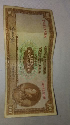 Billete De 100 (cien) Bolivares