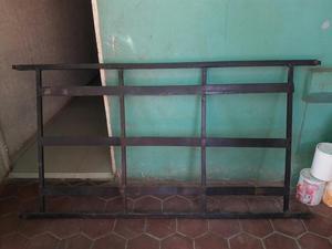 Copete para cama individual de hierro forjado posot class for Cama hierro