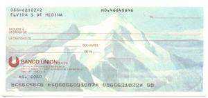 Cheque Coleccion Bco Unión Paisajes Venezuela: Pico