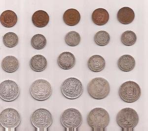 Colección De Monedas De Plata 27piezas