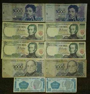 Lote 10 Billetes Venezolanos Desmonetizados