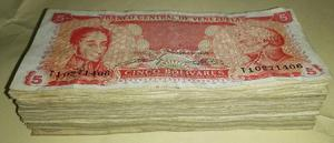 Lote De 113 Billetes Venezolanos, Oferta!!!