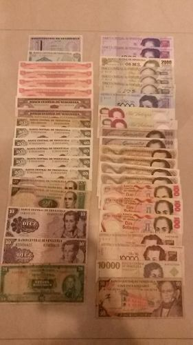 Lote De Billetes Antiguos La Mayoría Nuevos Negociable!!!