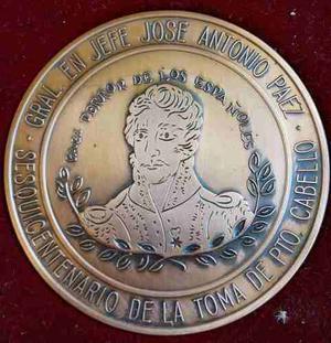 Medalla Del Sesquicentenario De La Toma De Puerto Cabello