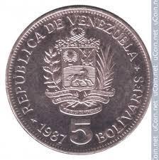 Moneda De 5 Bolivares De Niquel