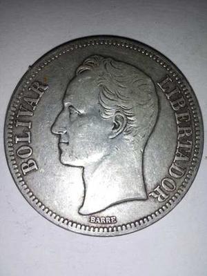 Moneda De 5 Bs De Plata De