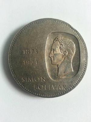 Moneda De Diez Bolivares . Doblon De Plata.