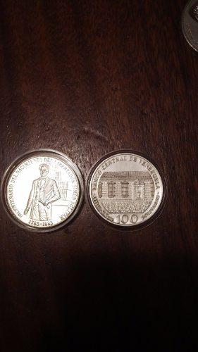 Moneda De Plata De 100 Bs Venezolana