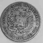 Moneda De Venezuela Fuertes De Plata De