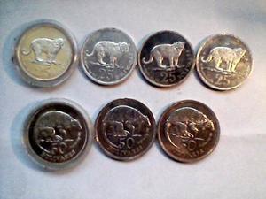 Monedas Cachicamo Y Jaguar De Plata 925 Son  Grs