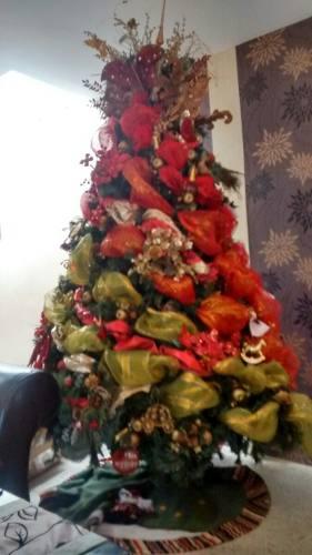 Arbol De Navidad Santini + Toda Decoracion Del Hogar Navidad