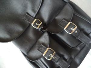 Bolso Backsack Morral Semipiel Backpack Mochila Semi Piel