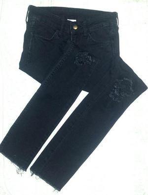 Pantalón Jeans Negro Marca Hm