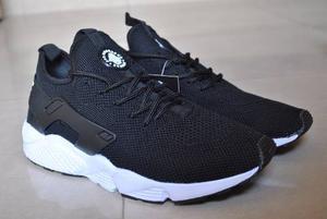 Kp3 Zapatos Nike Air Huarache Negro / Blanco Para Caballeros