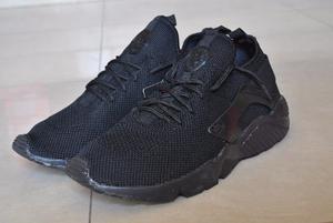 Kp3 Zapatos Nike Air Huarache Negro Completo Para Caballeros