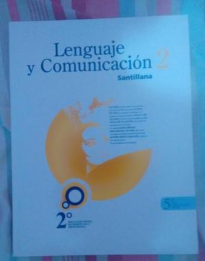 Libro de Lenguaje y Comunicación 2. Editorial Santillana.
