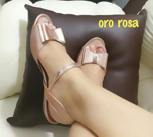 Sandalias Con Lazo Tipo Baletas