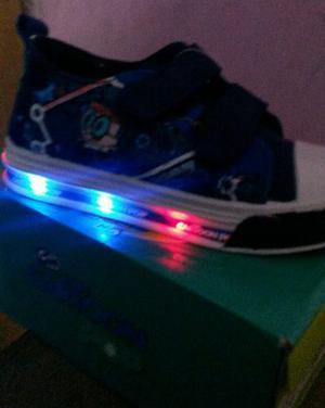 Zapatos Deportivos Gomas Con Luces Para Niños