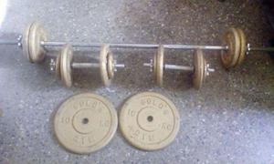 juego de pesas mancuernas 66kilos