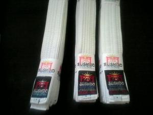 Cinturón Blanco Marca Bushido Talla 4 Karate, Taekwondo,