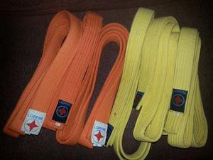 Cinturones De Karate Anaranjados.