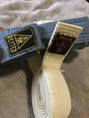 Cinturones De Karate Do Cinturón Blanco Y Celeste